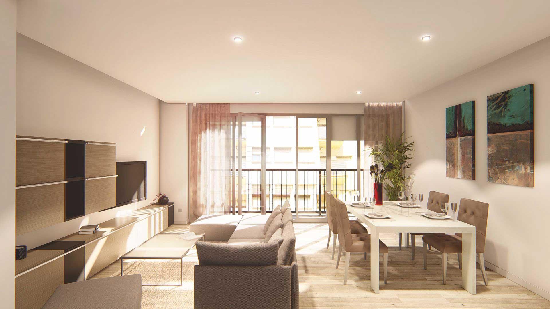 Gran Vía 21, 1º D · Salamanca · Piso de 86 m2 útiles · Con 3 habitaciones y 2 baños · Precio: 285.000 euros